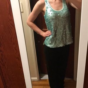 Sequined blouse/ tank